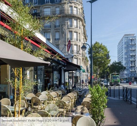 Terrasse boulevard Victor Hugo